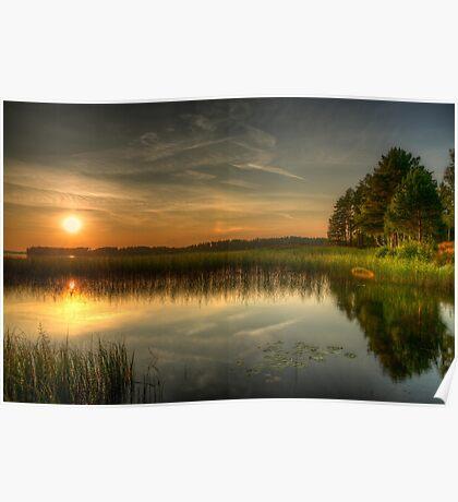 Finnish sunset landscape Poster