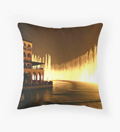 Biggest fountain in the World - Dubai Throw Pillow
