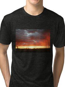 Hot Sunset in Outback Australia Tri-blend T-Shirt