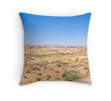 Valley floor in Valley of Fire State Park Throw Pillow
