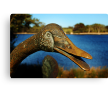 Swan Sculpture Canvas Print