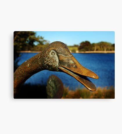Swan Sculpture Canvas Print