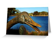 Swan Sculpture Greeting Card