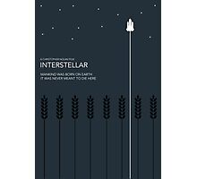 Interstellar Tribute - Minimalist Space Design Photographic Print