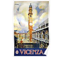 Vicenza Italy Vintage Travel Poster Restored Poster
