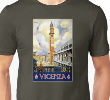 Vicenza Italy Vintage Travel Poster Restored Unisex T-Shirt