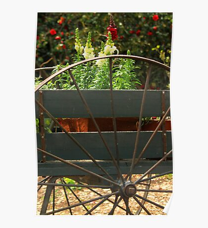 Flowers In The Cart Poster