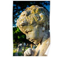 Memphis Elwood Cemetery - Boy Angel Vertical Poster