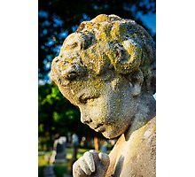 Memphis Elwood Cemetery - Boy Angel Vertical Photographic Print