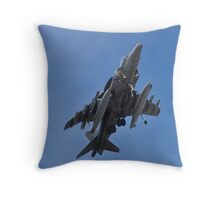 A fully loaded AV8B Harrier Throw Pillow