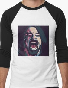 Dave Grohl. Foo fighters. Rock. Music. Men's Baseball ¾ T-Shirt
