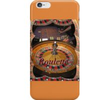 casino roulette wheel and table iPhone Case/Skin