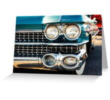 1959 Cadillac Sedan Deville (Series 62) Grill Greeting Card