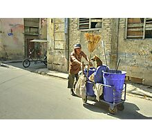 The Street Cleaner and his dog  Photographic Print