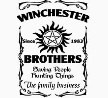 Winchester brothers since 1983 (black version) Unisex T-Shirt