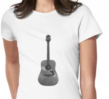 Battered Guitar Womens Fitted T-Shirt