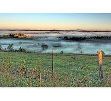Foggy Hillside Photographic Print