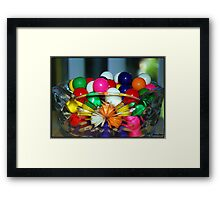 Colorful Gumballs Framed Print