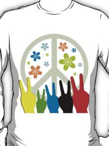 Peace Symbol Cool Illustration T-Shirt