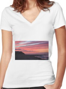 Rattray Point at Sunset Women's Fitted V-Neck T-Shirt