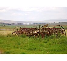 Farm Machinery at Ribble Viaduct Photographic Print