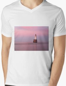Rattray Head Lighthouse at Sunset Mens V-Neck T-Shirt