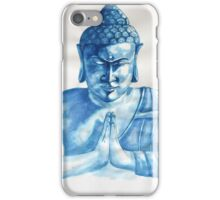 Blue Buddha ink painting iPhone Case/Skin