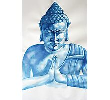Blue Buddha ink painting Photographic Print