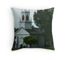 Moravian Church - Circa 1852 Throw Pillow