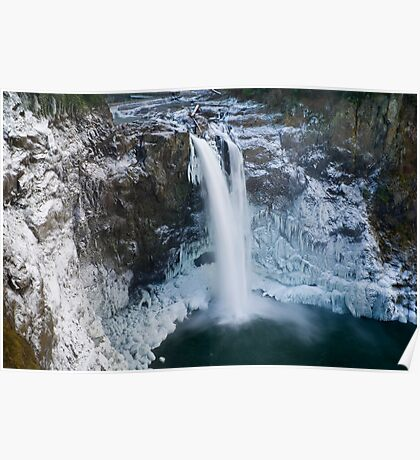 Snoqualmie Falls in Winter Poster