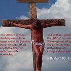 Jesus Christ Crucifixion Redeemer Psalm 103: 1 - 4 Bible verse photograph by Rick Short