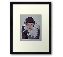 Zoe dresses as 'Dolly Haas' Framed Print