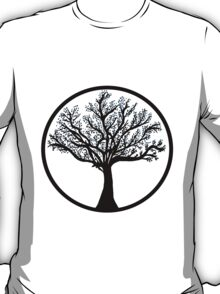 Tree in black and blueA T-Shirt