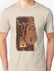 Old Rusty Shearing Shed Lock T-Shirt