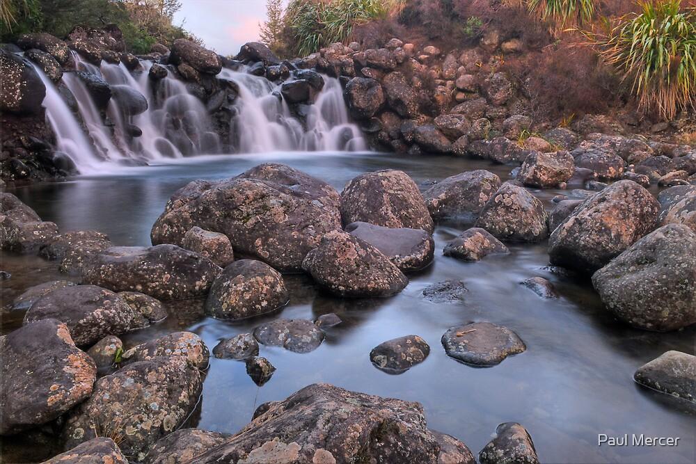 Waterfall Sunset by Paul Mercer