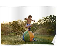 Sunsetting Sprinkler Jumper  Poster