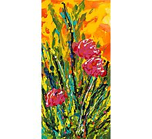 Spring Tulips, Triptych Panel 2 Photographic Print