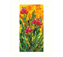 Spring Tulips, Triptych Panel 3 Art Print