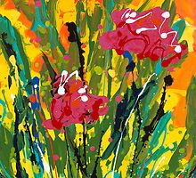 Spring Tulips, Triptych Panel 3 by Nadine Rippelmeyer