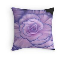 Violet Beauty Begonia ©  Throw Pillow
