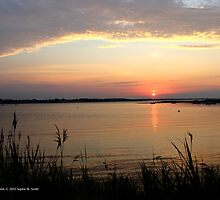 Hart Cove Sunrise - With You   East Moriches, New York  by © Sophie W. Smith