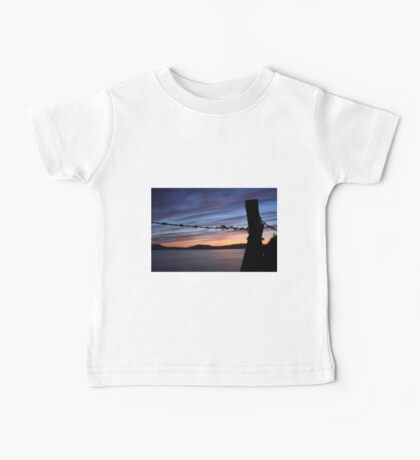 Barbed Wire Sunset Baby Tee