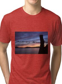 Barbed Wire Sunset Tri-blend T-Shirt