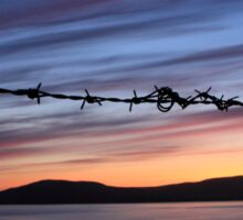 Barbed Wire Sunset Sticker