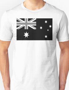 Australian Flag Black and White T-Shirt