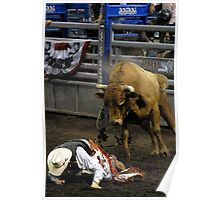 A Bull Rider in trouble! Poster