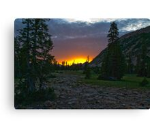 Fire on top of the world Canvas Print