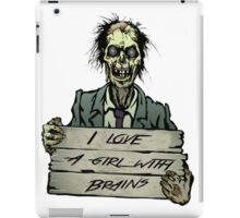 Zombies can love, right? iPad Case/Skin