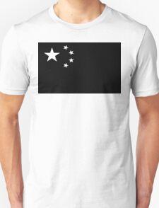 Chinese Flag Black and White T-Shirt