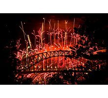 Red New Year Photographic Print